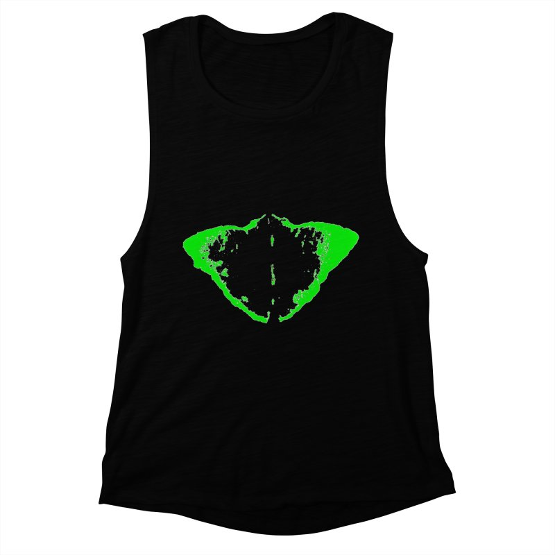 JEAN GREEN MANTHA  Women's Muscle Tank by Piccolo Cafe
