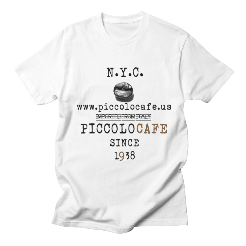 Piccolo  in Men's Regular T-Shirt White by Piccolo Cafe