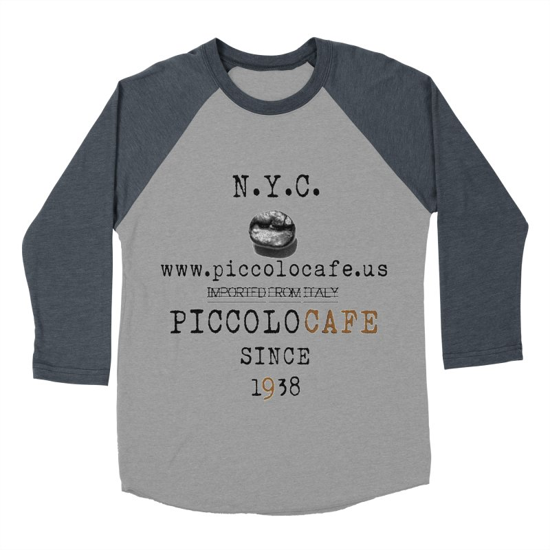 Piccolo  Men's Baseball Triblend Longsleeve T-Shirt by Piccolo Cafe