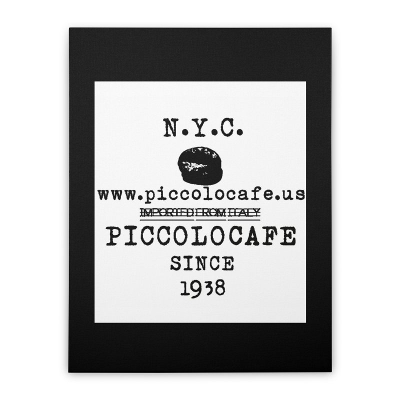 WHITELOGO Home Stretched Canvas by Piccolo Cafe