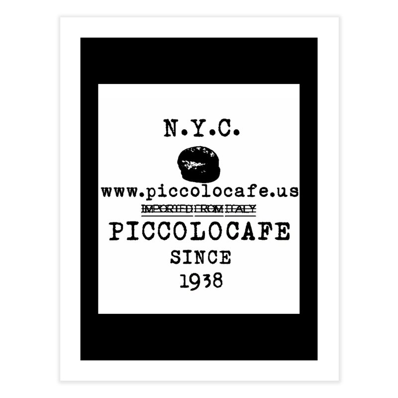 WHITELOGO Home Fine Art Print by Piccolo Cafe