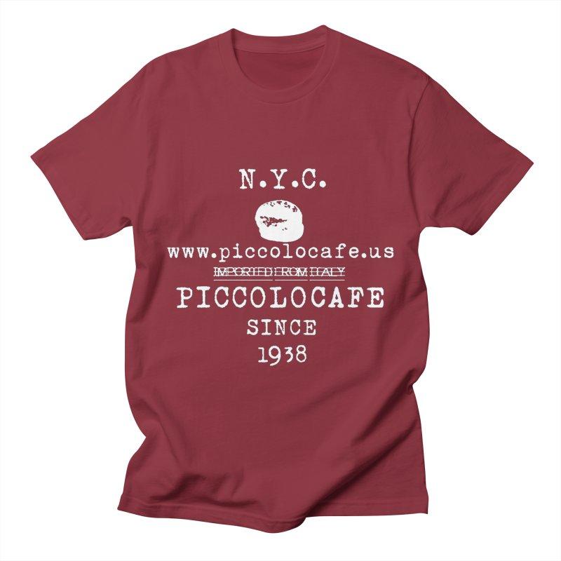 WHITELOGO Men's T-Shirt by Piccolo Cafe