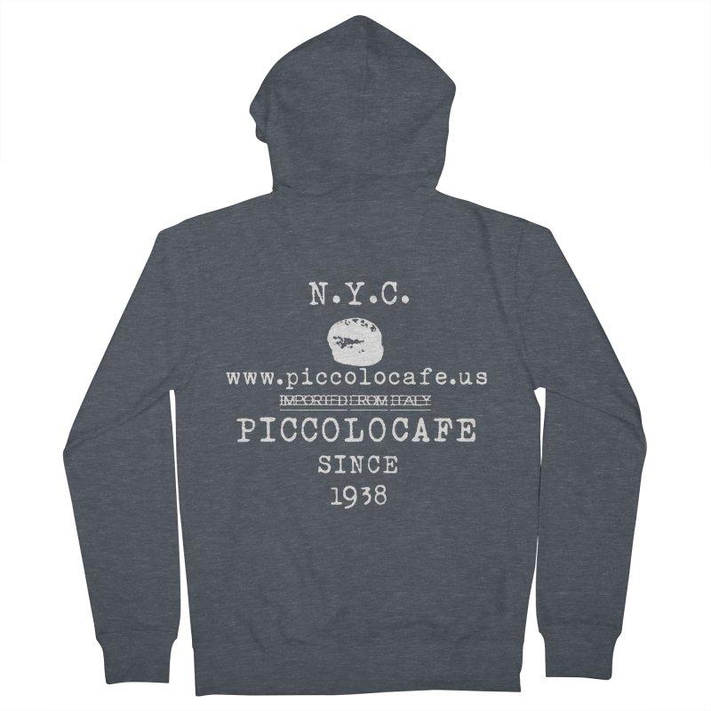 WHITELOGO Women's Zip-Up Hoody by Piccolo Cafe