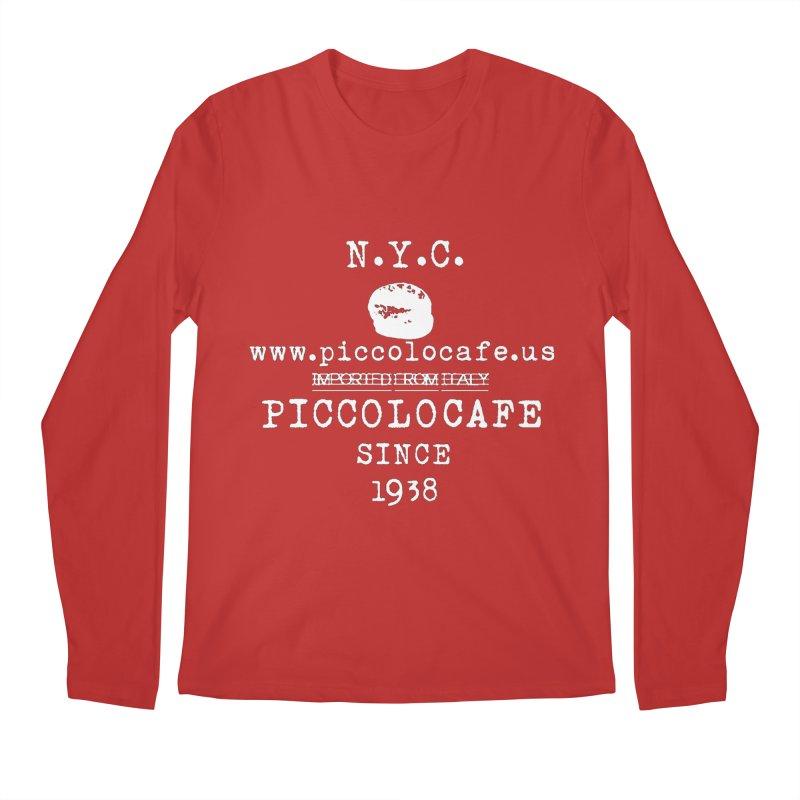 WHITELOGO Men's Regular Longsleeve T-Shirt by Piccolo Cafe