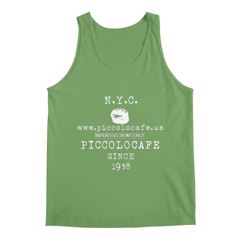 WHITELOGO Men's Tank by Piccolo Cafe