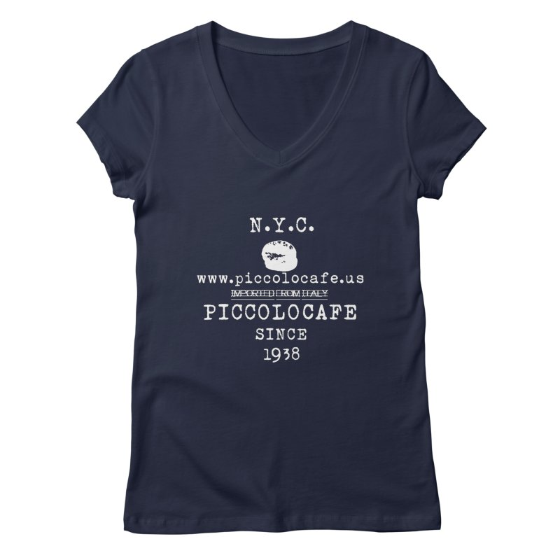 WHITELOGO Women's V-Neck by Piccolo Cafe