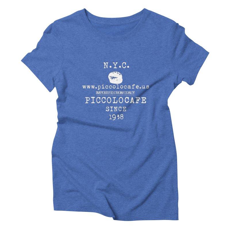 WHITELOGO Women's Triblend T-Shirt by Piccolo Cafe
