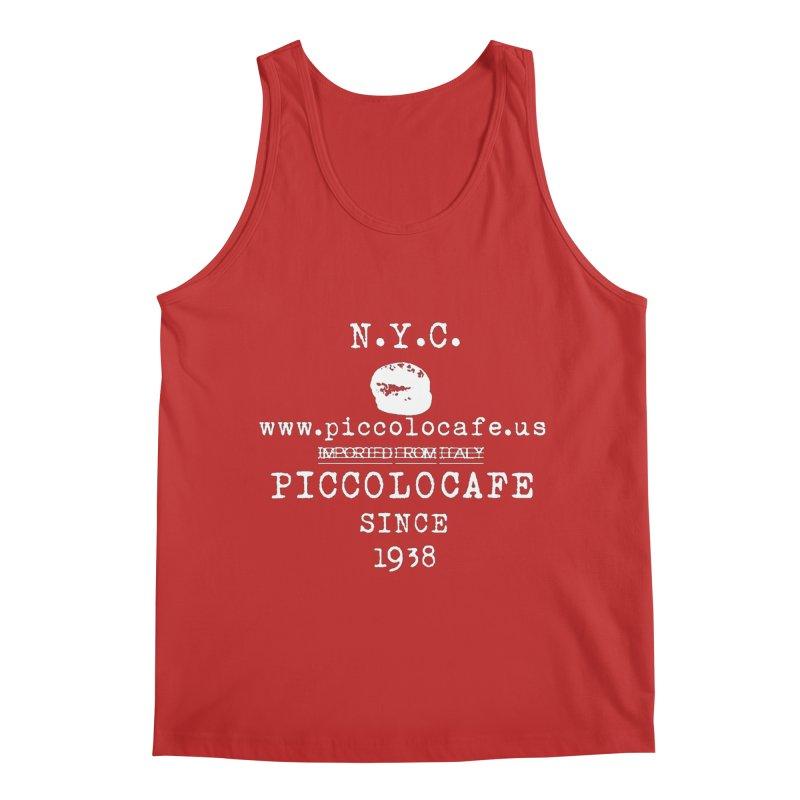 WHITELOGO Men's Regular Tank by Piccolo Cafe