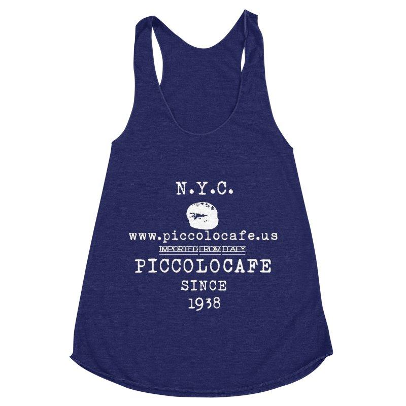 WHITELOGO Women's Racerback Triblend Tank by Piccolo Cafe