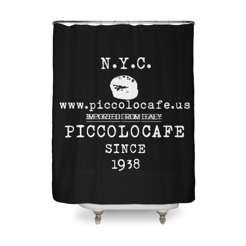 WHITELOGO Home Shower Curtain by Piccolo Cafe