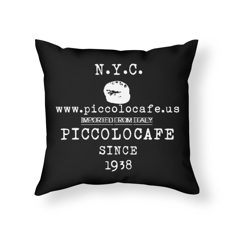 WHITELOGO Home Throw Pillow by Piccolo Cafe