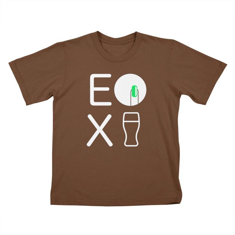 EX YOGINI Kids T-Shirt by Piccolo Cafe