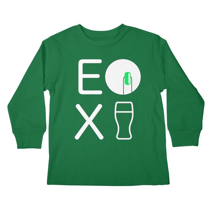 EX YOGINI Kids Longsleeve T-Shirt by Piccolo Cafe