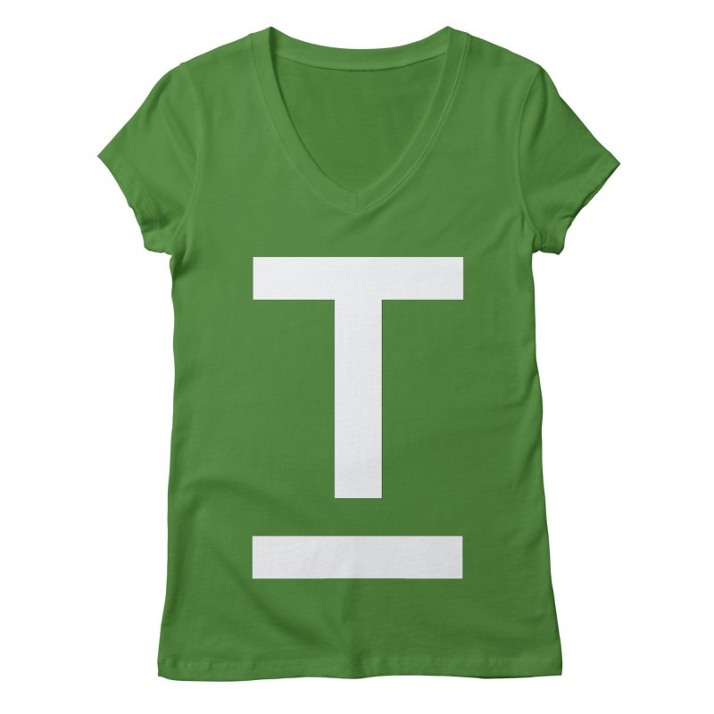 TM FACE Women's V-Neck by Piccolo Cafe
