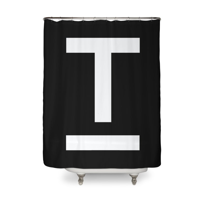 TM FACE Home Shower Curtain by Piccolo Cafe