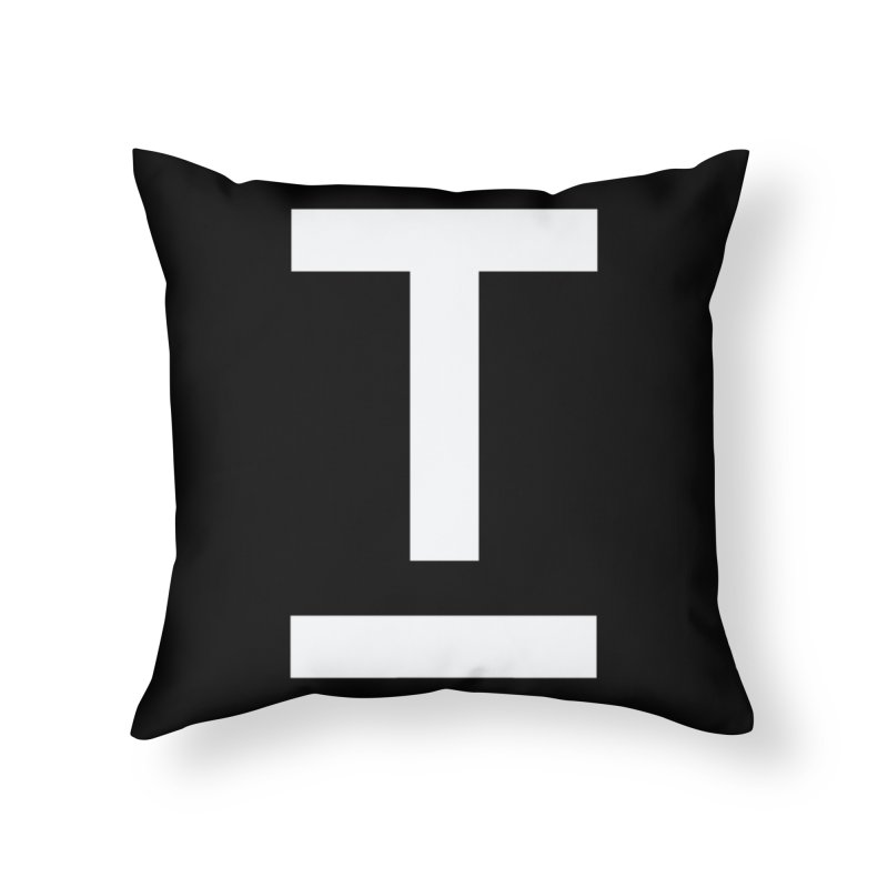 TM FACE Home Throw Pillow by Piccolo Cafe