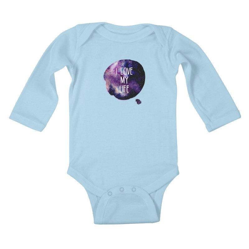 I LOVE MY LIFE Kids Baby Longsleeve Bodysuit by pick&roll
