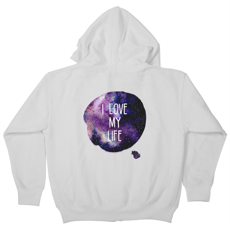I LOVE MY LIFE Kids Zip-Up Hoody by pick&roll