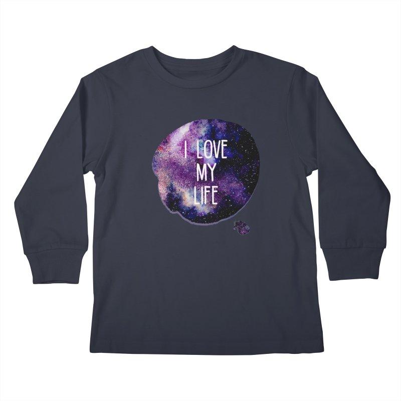 I LOVE MY LIFE Kids Longsleeve T-Shirt by pick&roll