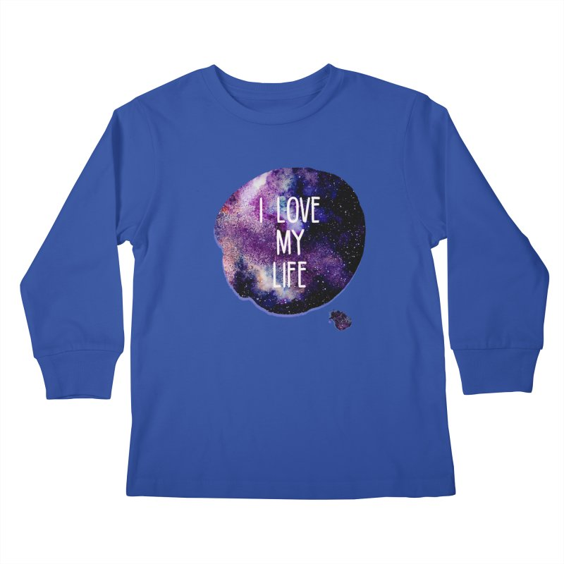I LOVE MY LIFE Kids Longsleeve T-Shirt by pick&roll