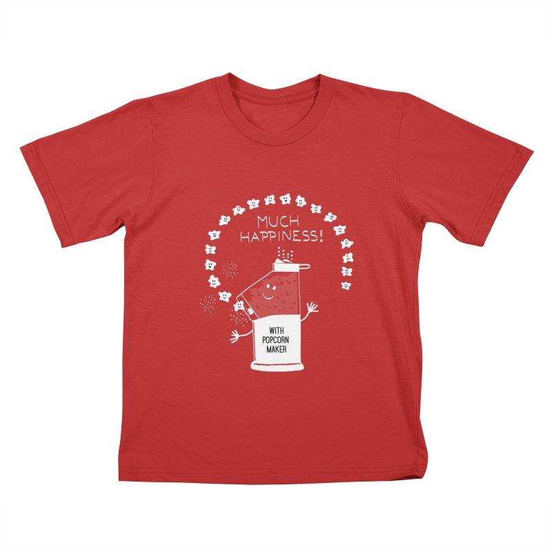 POPCORN VIBES Kids T-Shirt by pick&roll