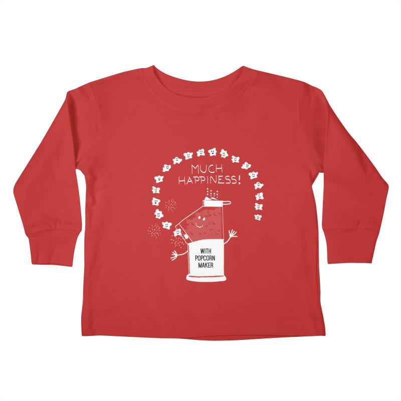 POPCORN VIBES Kids Toddler Longsleeve T-Shirt by pick&roll