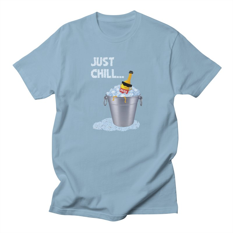 JUST CHILL in Men's T-shirt Light Blue by pick&roll