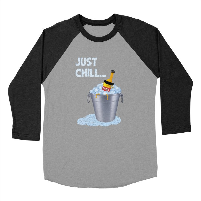 JUST CHILL Men's Baseball Triblend T-Shirt by pick&roll