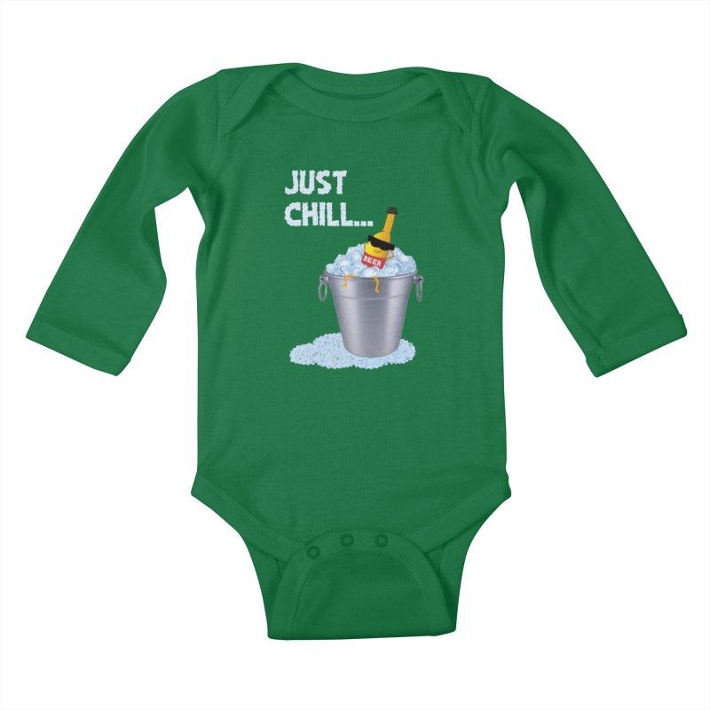 JUST CHILL Kids Baby Longsleeve Bodysuit by pick&roll