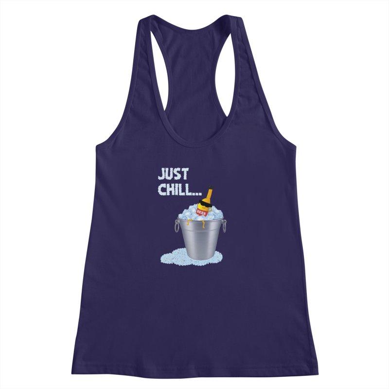 JUST CHILL Women's Racerback Tank by pick&roll