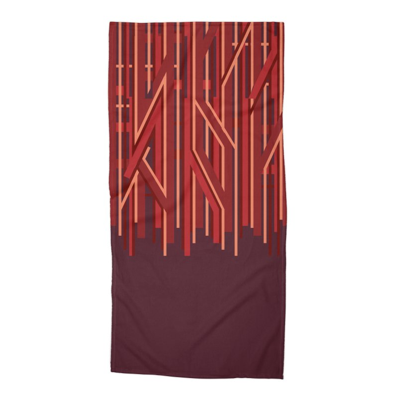 RED LINES Accessories Beach Towel by pick&roll