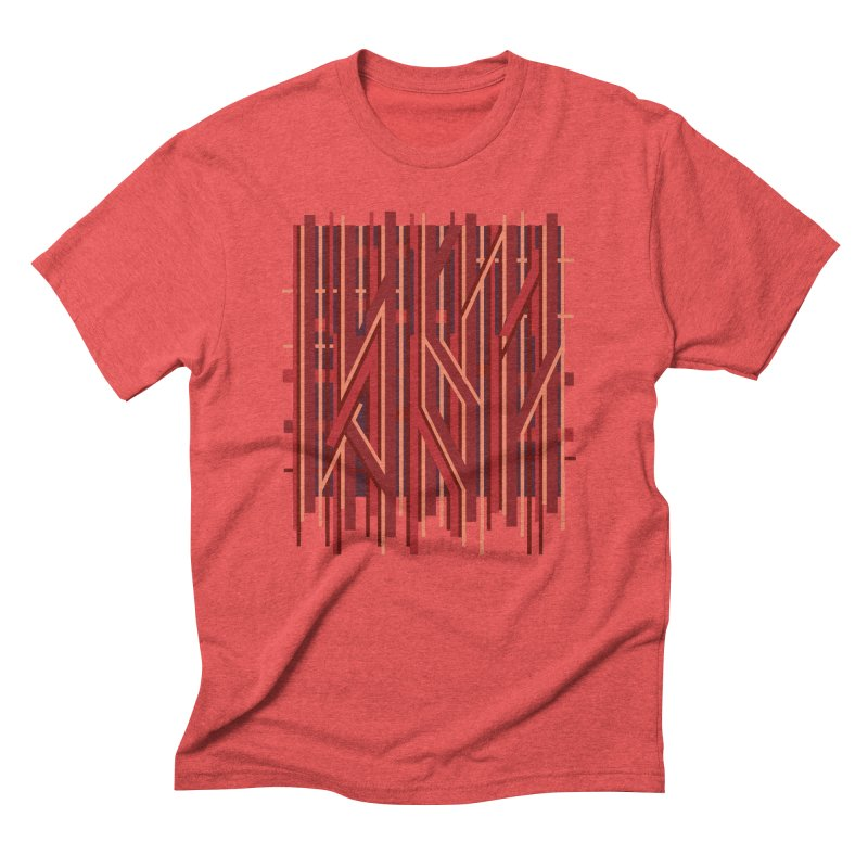 RED LINES Men's Triblend T-Shirt by pick&roll