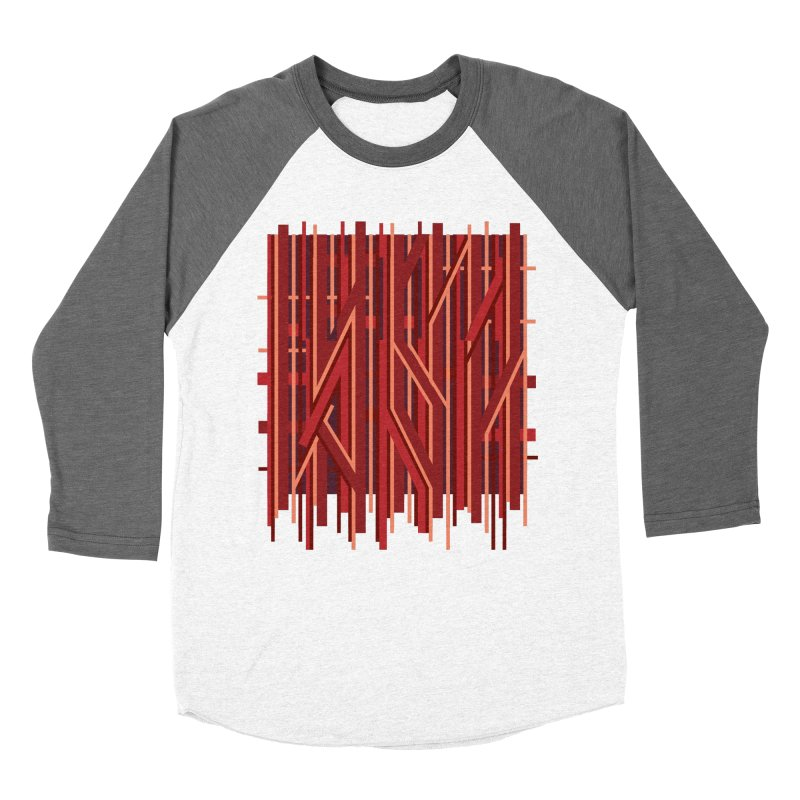 RED LINES Women's Baseball Triblend T-Shirt by pick&roll