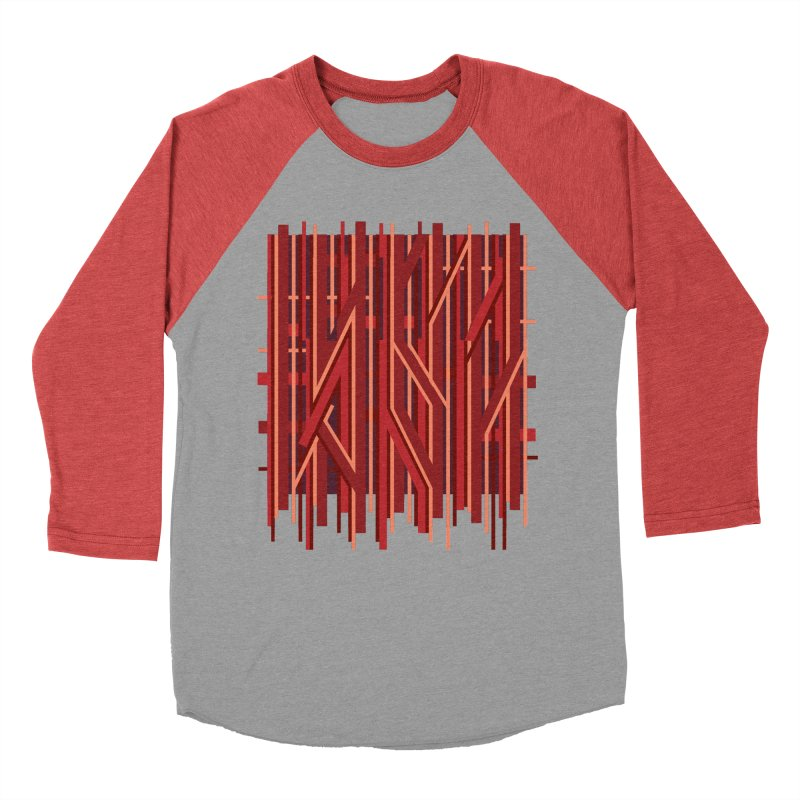 RED LINES Men's Baseball Triblend T-Shirt by pick&roll
