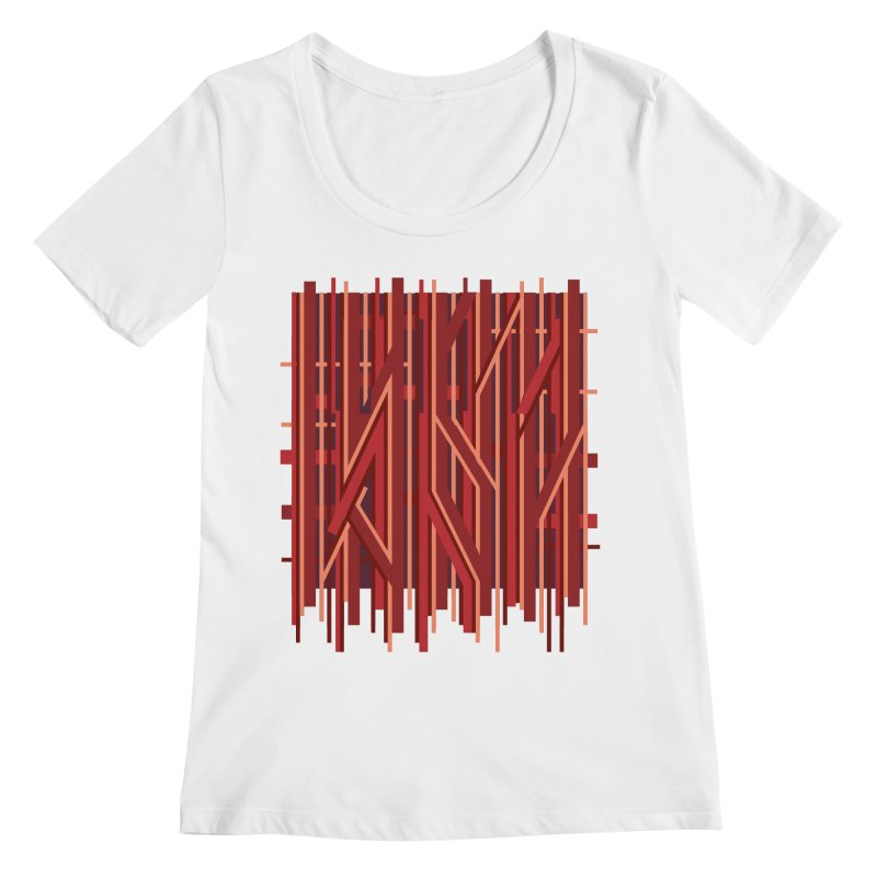 RED LINES Women's Scoopneck by pick&roll