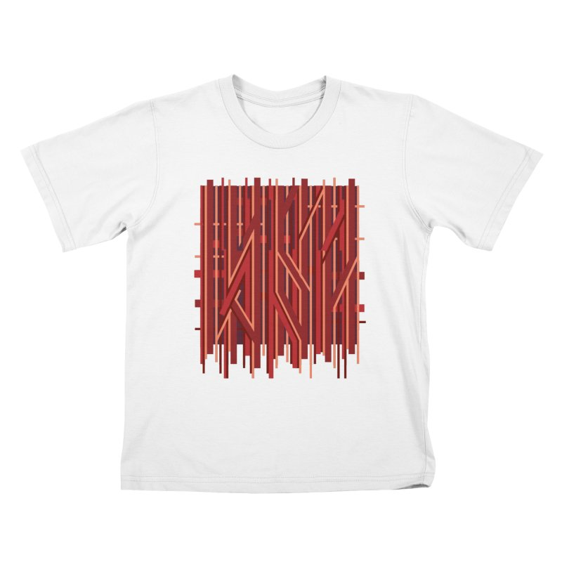 RED LINES Kids T-Shirt by pick&roll