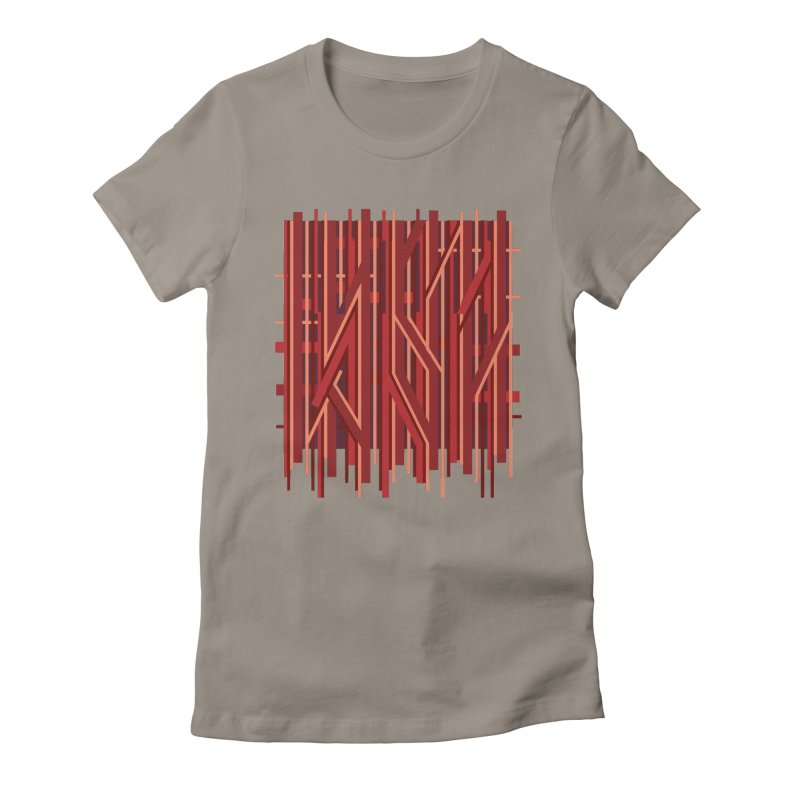 RED LINES Women's Fitted T-Shirt by pick&roll