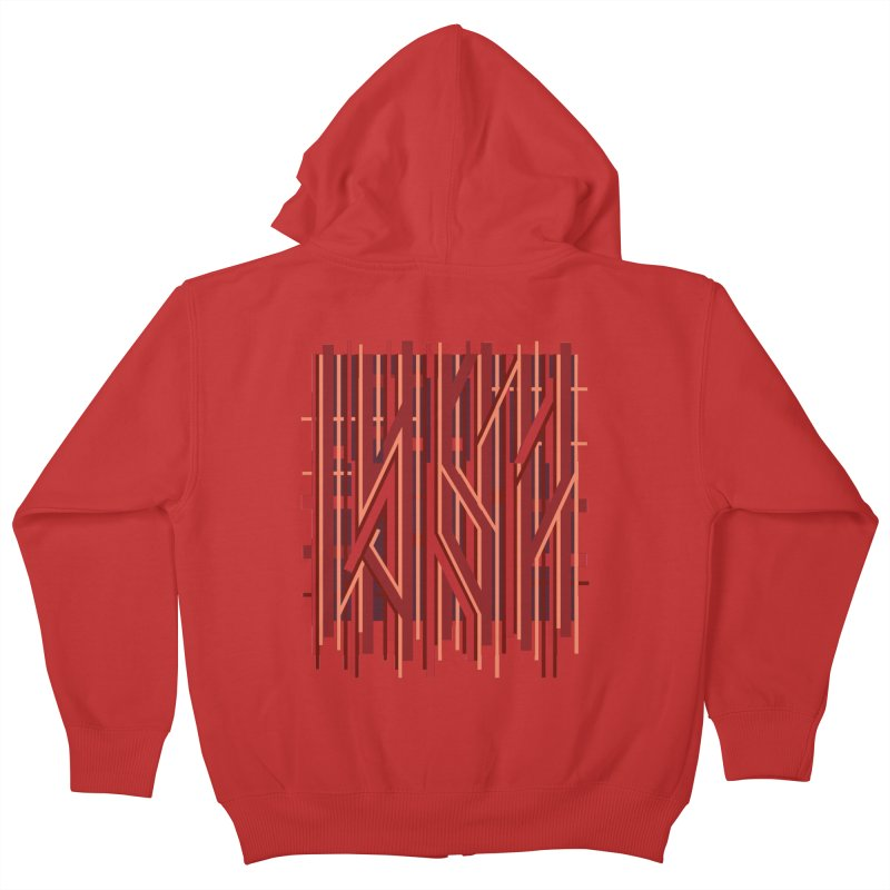 RED LINES Kids Zip-Up Hoody by pick&roll