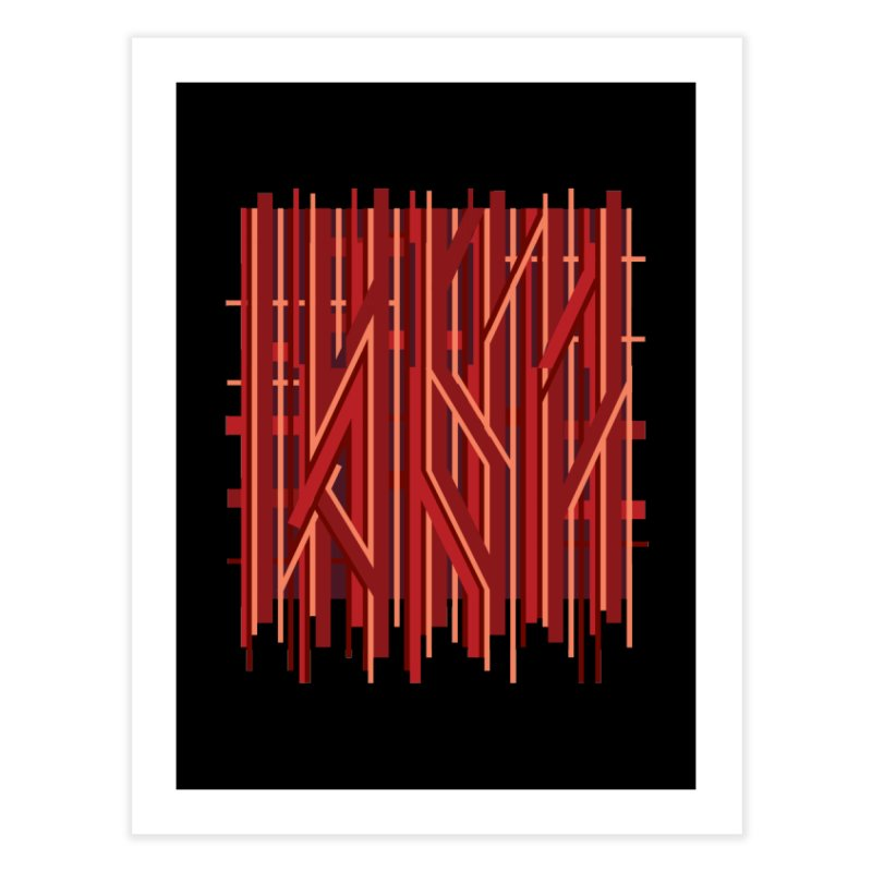 RED LINES Home Fine Art Print by pick&roll