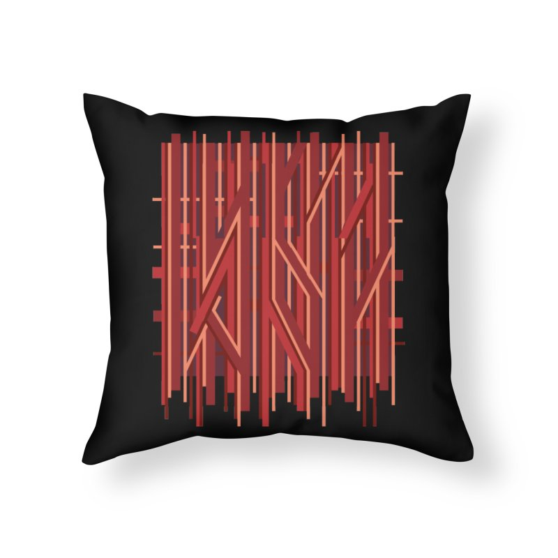 RED LINES Home Throw Pillow by pick&roll