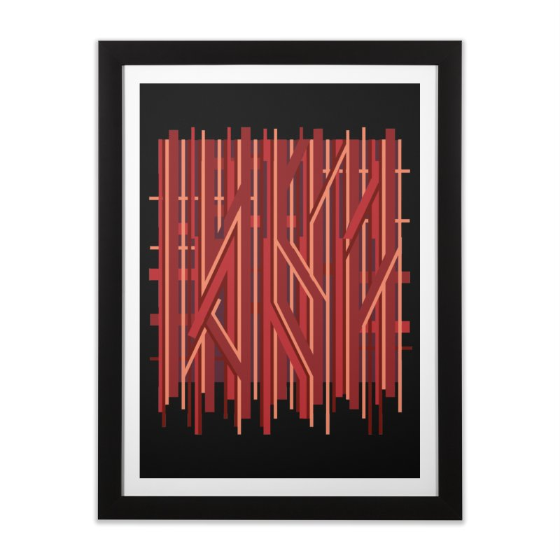 RED LINES Home Framed Fine Art Print by pick&roll