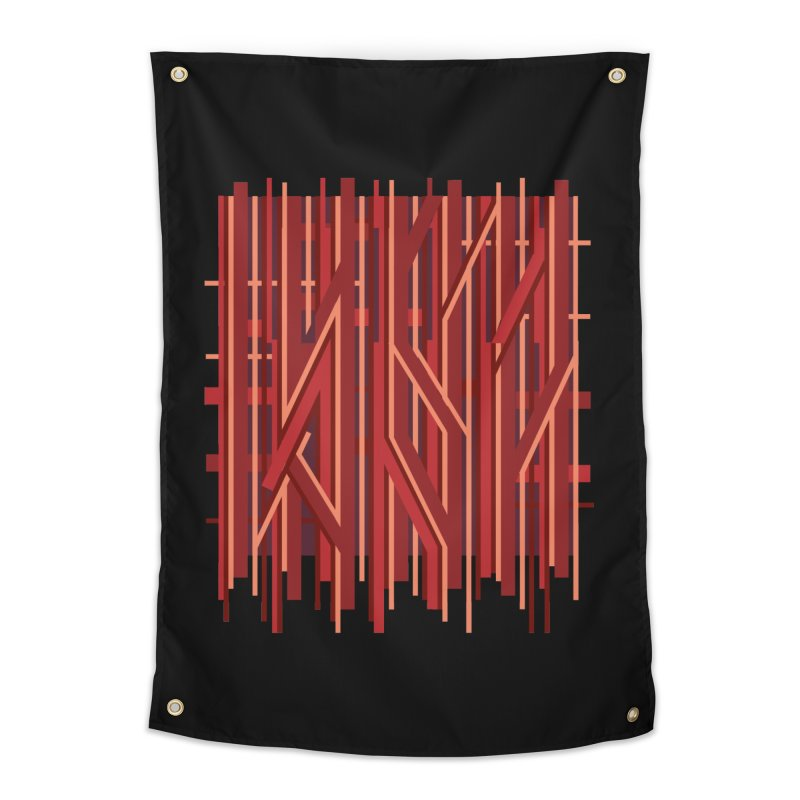 RED LINES Home Tapestry by pick&roll