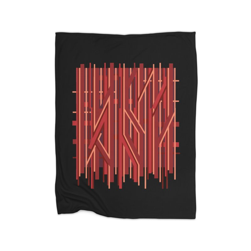 RED LINES Home Blanket by pick&roll