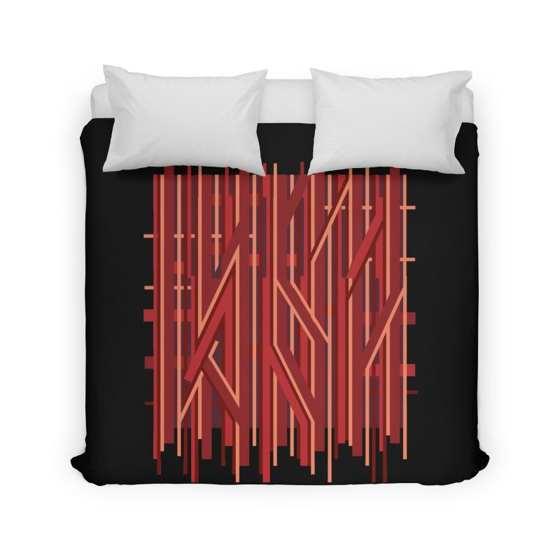 RED LINES Home Duvet by pick&roll