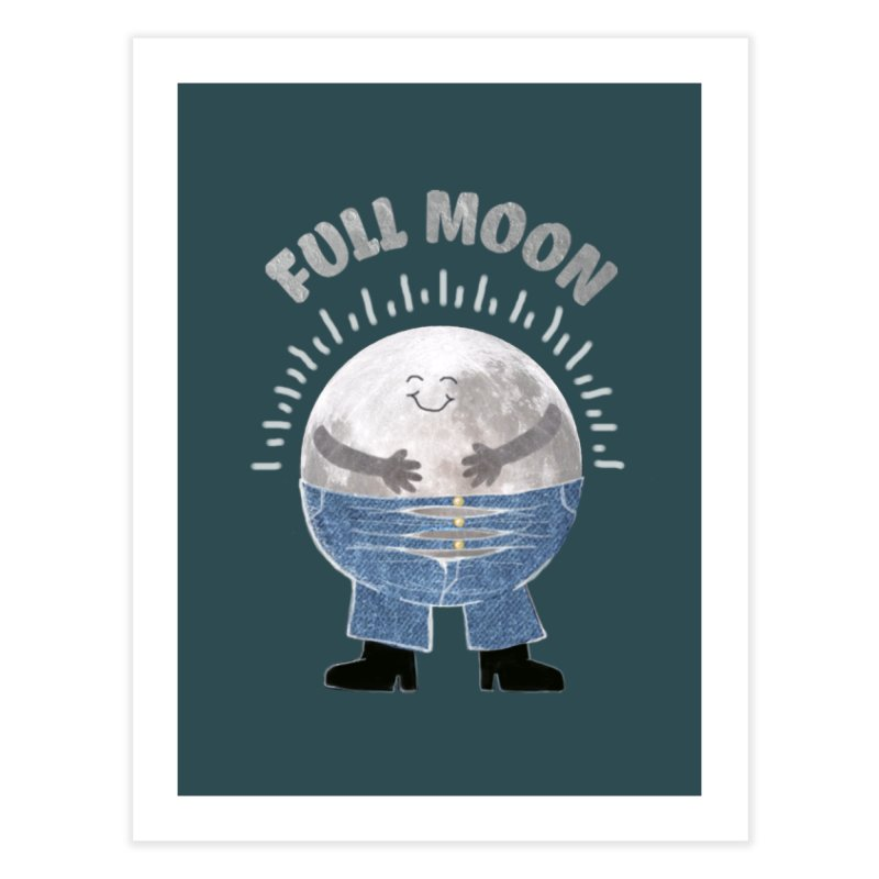 FULL MOON Home Fine Art Print by pick&roll