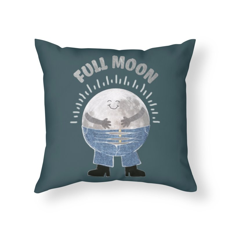 FULL MOON Home Throw Pillow by pick&roll