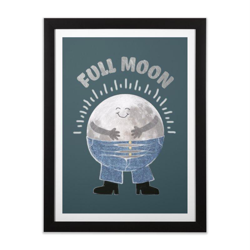 FULL MOON Home Framed Fine Art Print by pick&roll