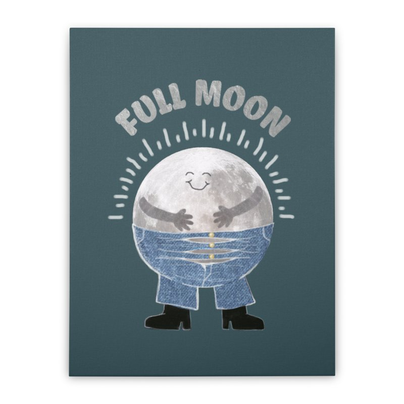 FULL MOON Home Stretched Canvas by pick&roll