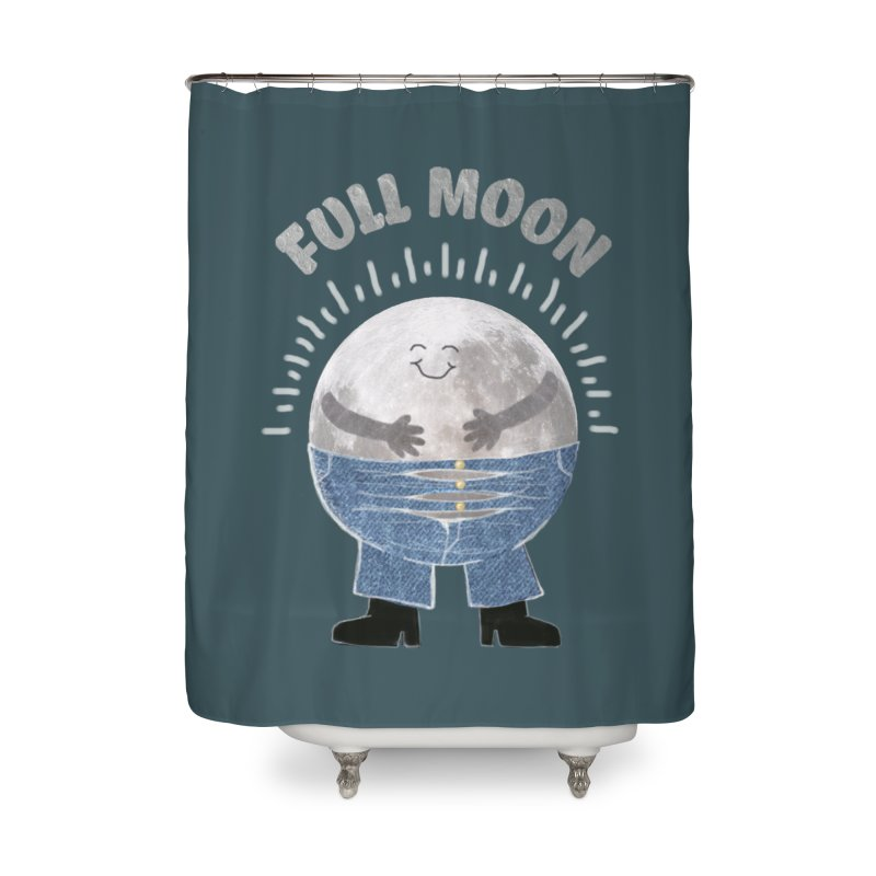 FULL MOON Home Shower Curtain by pick&roll