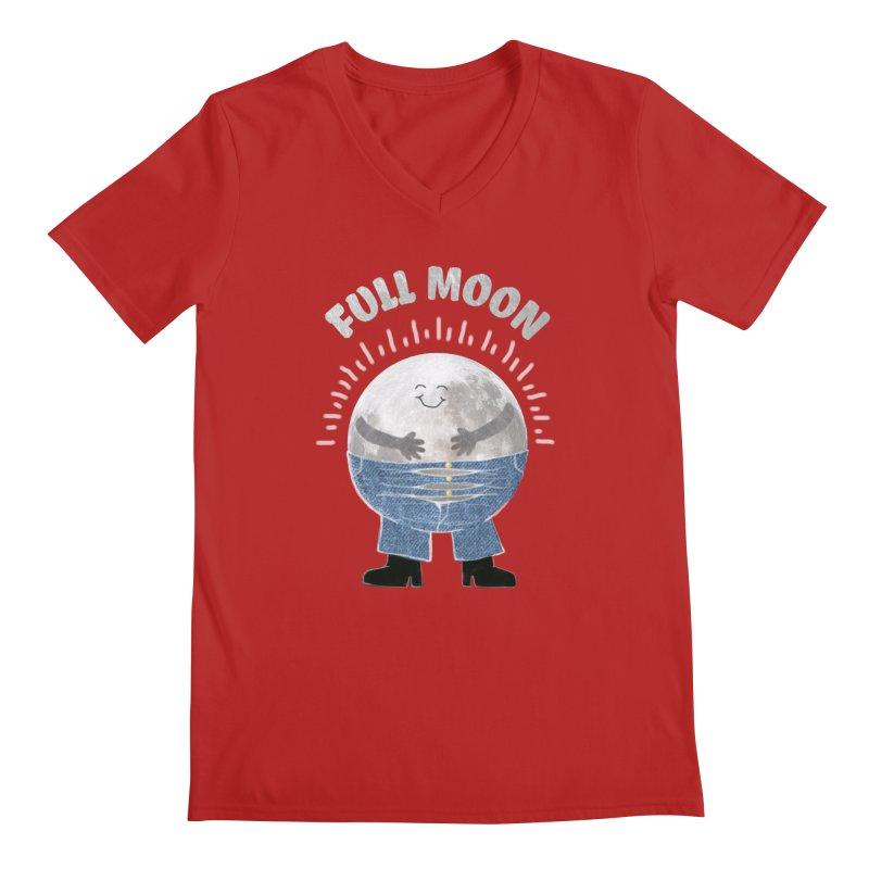 FULL MOON Men's V-Neck by pick&roll
